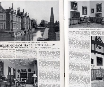 1956 COUNTRY LIFE Vintage Magazine HELMINGHAM HALL Annabel Asquith HARWOOD Fashion HAREWOOD (5113)